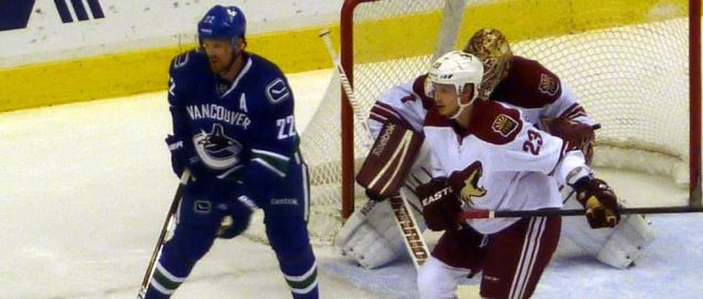 The Arizona Coyotes vs. the Vancouver Canucks.