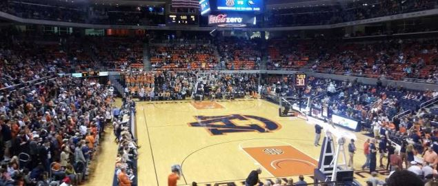 Auburn Arena before tipoff of the Auburn-UAB game on November 13, 2015.