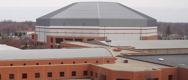 The Ball State University basketball arena.