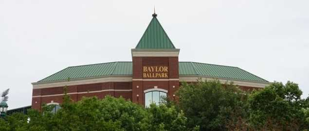 Baylor Ballpark on the campus of Baylor University in Waco, Texas.
