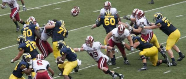 Michigan Wolverines vs Indiana Hoosiers Big Ten matchup on September 26, 2009