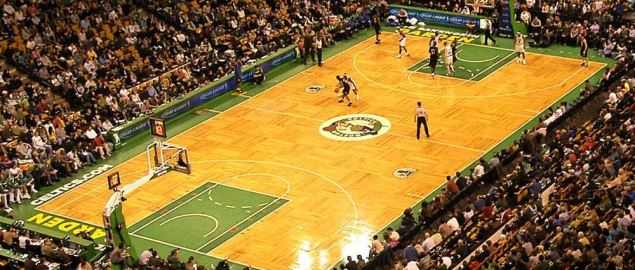 Boston Celtics versus Minnesota Timberwolves at TD Banknorth Garden.