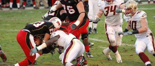 Game between Boston College and Maryland Terrapins.