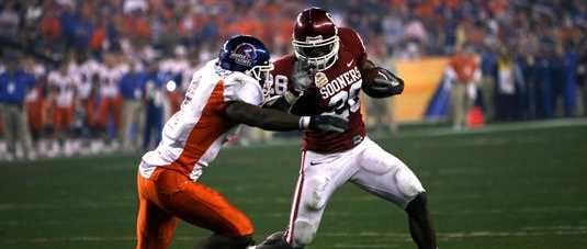 Adrian Peterson in the epic 2007 Fiesta Bowl OU vs Boise State