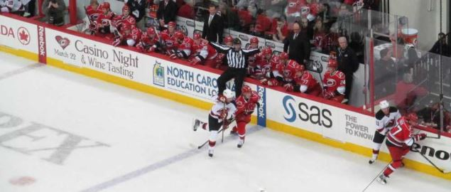 Carolina Hurricanes vs. New Jersey Devils at the PNC Arena in Raleigh, North Carolina.