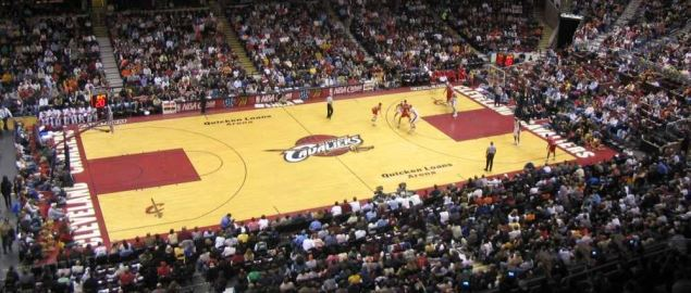 Cleveland Cavaliers vs. Chicago Bulls at the Quicken Loans Arena.
