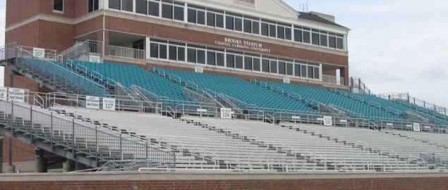 Coastal Carolina's home stands at their football stadium.