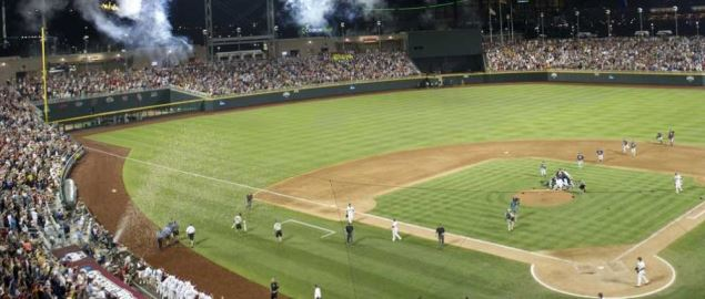 Game Two of the College World Series in Omaha, Nebraska on June 25, 2012