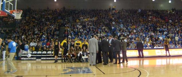 Inside the Knapp Center during the Iowa vs Drake game.