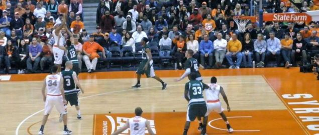 The Eastern Michigan Eagles take on Syracuse.