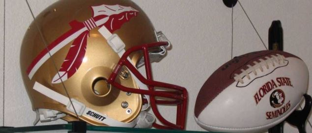 The Florida State Seminoles Helmet and Football.