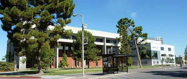 The Henry Madden Library on the campus of California State University Fresno.