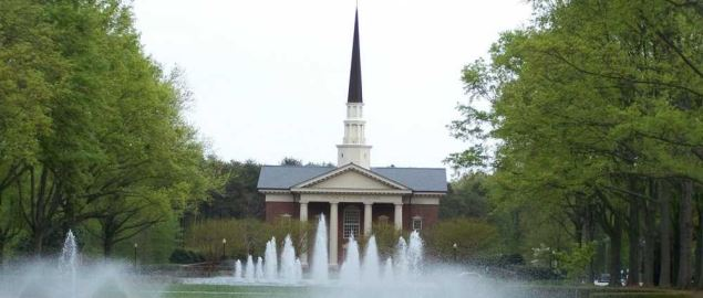 Furman Chapel on the campus of Furman University.