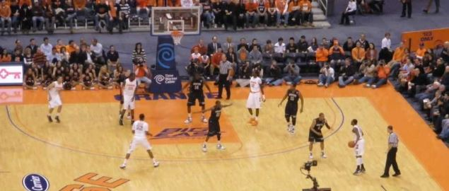 The Georgetown Hoyas vs. Syracuse.