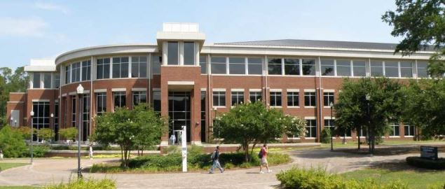 A view of the main entrance to the College of Information Technology at Georgia Southern.