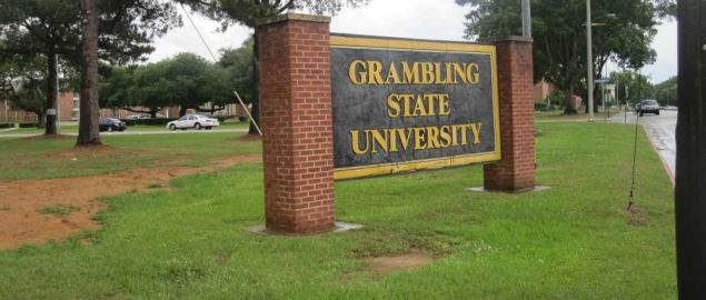 Entrance sign to Grambling State University.