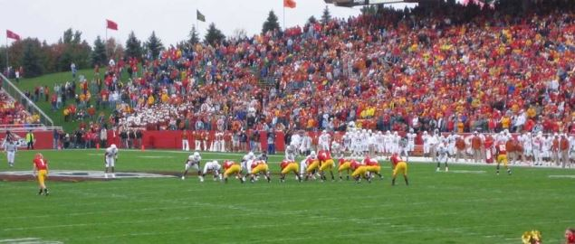 Iowa State Cyclones vs. Texas football.