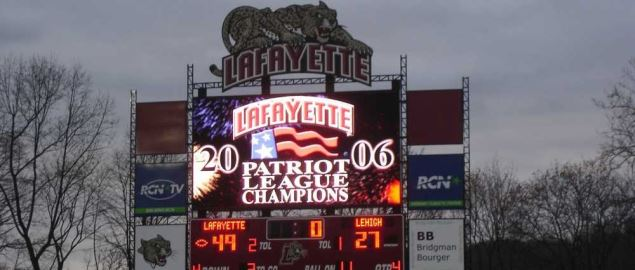 Lafayette College beats Lehigh University to claim the Patriot League championship.