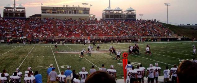 Liberty University Flames football game.