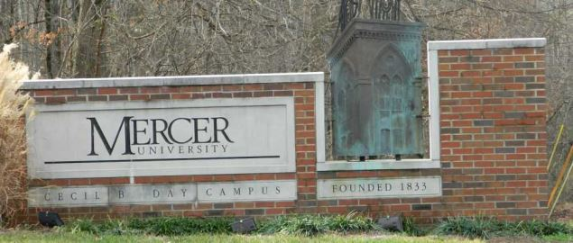 Entrance to Mercer University (Atlanta) campus from Mercer University Drive.