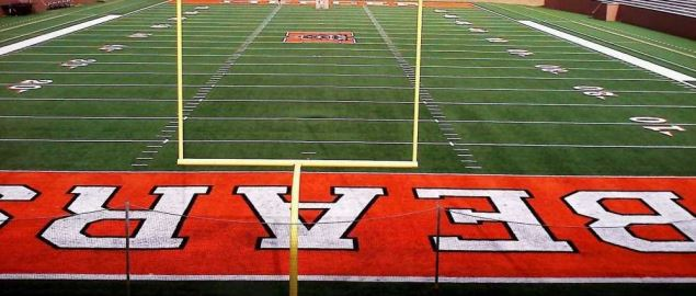 Tony and Nancy Moye Football stadium on the campus of Mercer University.