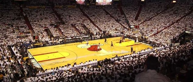Game 3 of the NBA Finals at Miami Heat's, American Airlines Arena.