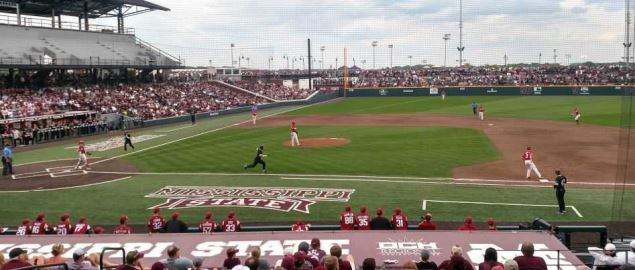 Arkansas and Mississippi State baseball game in Starkville, MS