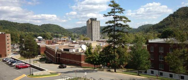 View from the West Mignon Hall of Morehead State University campus.
