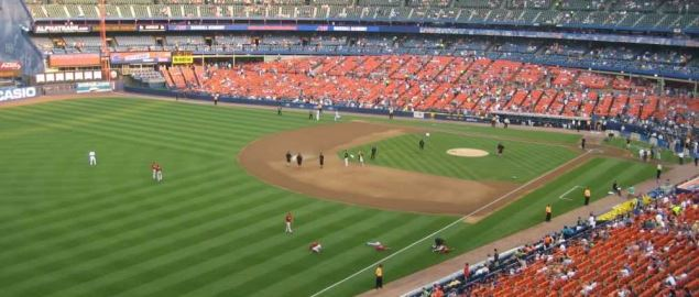 The New York Met's Shea Stadium, in Queens NY.