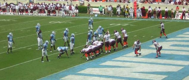 The North Carolina A&T Aggies vs. the Virginia Tech Hokies.