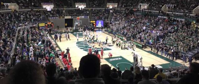 Ohio vs NIU men's basketball game February 6, 2016.