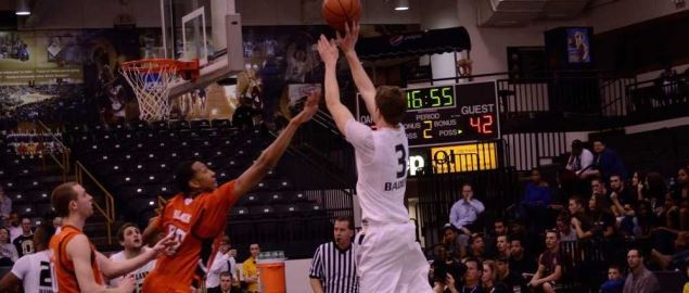 Travis Bader, Oakland University guard, in a 2012 game against Bowling Green State.