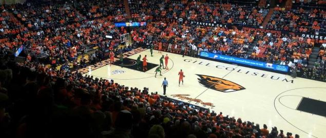 Oregon State University men's basketball game against the University of Oregon.