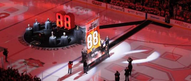 Philadelphia Flyers Eric Lindros Ceremony.