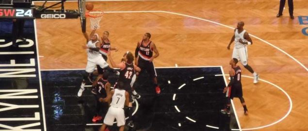 The Portland Trailblazers vs. the Brooklyn Nets.