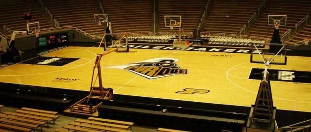 Keady Court inside of Mackey Arena, at Purdue University in West Lafayette, Indiana.