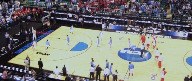 UNC vs. Radford, warm-ups before the big game in the 2009 NCAA Tournament.