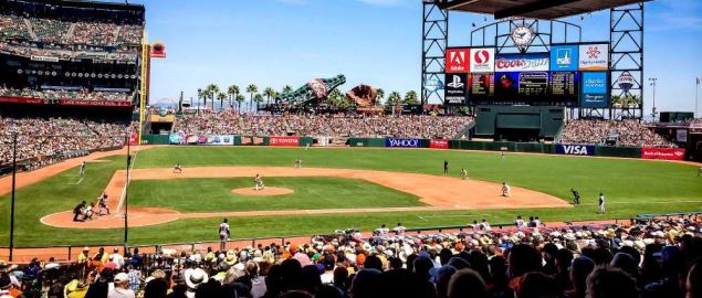 San Francisco Giants at their home field, AT&T Park.