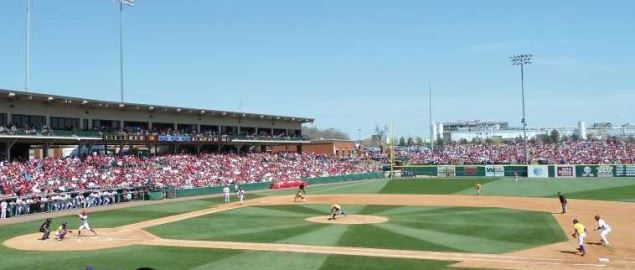 Arkansas vs LSU at Baum Stadium, Fayetteville Arkansas in 2013