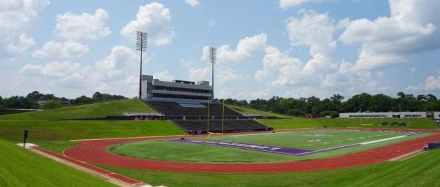 Homer Bryce Stadium on the campus of Stephen F. Austin State University in Nacogdoches.