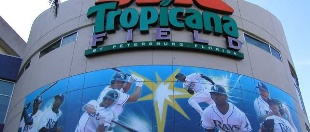 Entrance to Tampa Bay Ray's Tropicana Field.