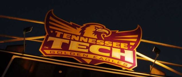 Tennessee Technological University Golden Eagles sign.