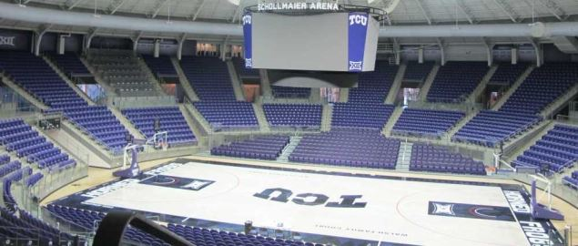 TCU's Renovated Schollmaier Arena Interior.