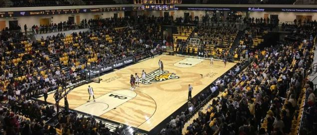 SECU Arena during Towson vs. Morgan State
