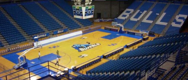 The Alumni Arena, home of the Buffalo Bulls.