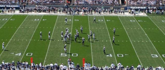Penn State University vs the Akron Zips.