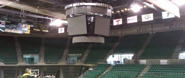 UAB's Bartow Center scoreboard.