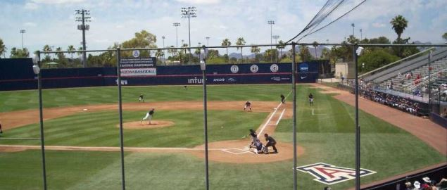 Hi Corbett Field, Tucson, Arizona. Home of the University of Arizona Wildcat baseball team