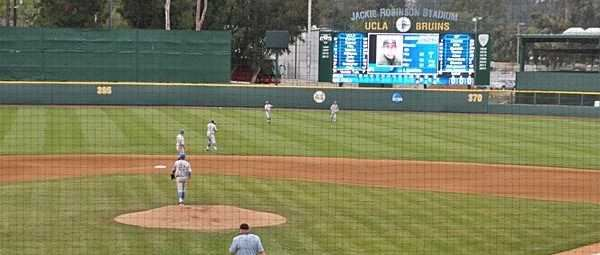 UCLA baseball team playing in the 2013 LA Regional tournament vs. Cal Poly Mustangs.