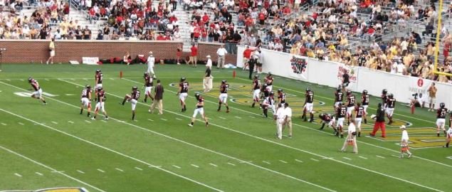 The Georgia Bulldogs take on the Georgia Tech Yellow Jackets.